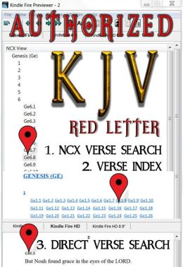 Authorized KJV (Red Letter Edition): Fast Navigation, Search Every Verse with 1. NCX Verse Search, 2. Verse Index, & 3. Direct Verse Search