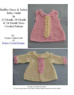 Ruffles Baby Dress and Matching Jacket Crochet Pattern
