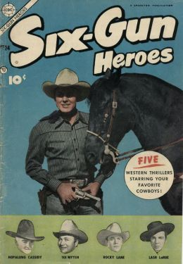 Six Gun Heroes Number 24 Western Comic Book