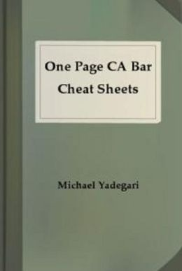 One Page CA Bar Cheat Sheets - REMEDIES