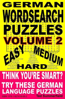 German Word Search Puzzles. Volume 2.