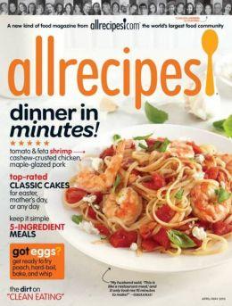 Allrecipes - April and May, 2015