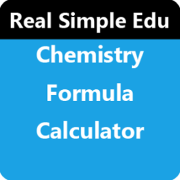 Chemistry Formula Calculator by WAGmob