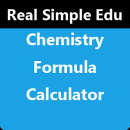 Chemistry Formula Calculator by WAGmob