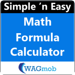Math Formula Calculator by WAGmob