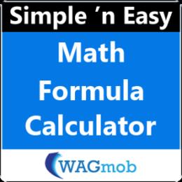 Math Formula Calculator by WAGmob