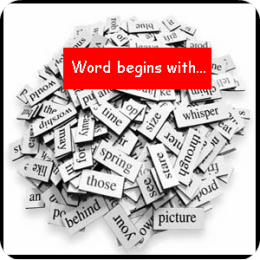 Word begins with...