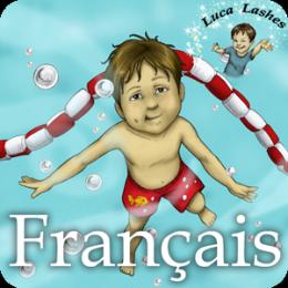 Luca Longs Cils et Sa Première Leçon de Natation