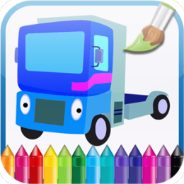 Kids Coloring Book: Cartoon Cars!