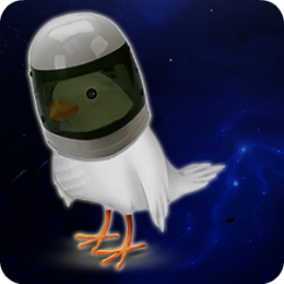 Relaxing Birds in Space