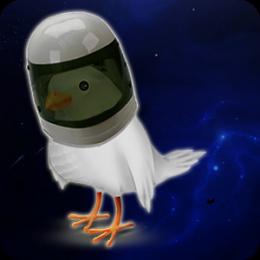 Relaxing Birds in Space