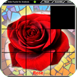 Magic Slide Puzzle - Flowers 1