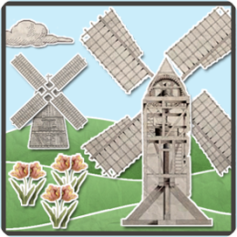 Vintage Papercraft Windmills HD Live Wallpaper