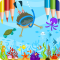 Coloring Book: Fish & Ocean Paradise