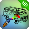 Trucks Coloring HD