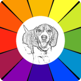 Sketch Coloring Book: Dogs