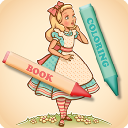 Coloring Book: Alice in Wonderland