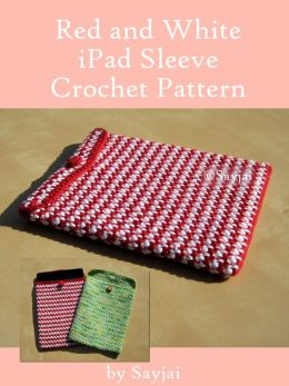 Red and White iPad Sleeve Crochet Pattern