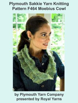 Plymouth Sakkie Yarn Knitting Pattern F464 Lacy Moebius Cowl