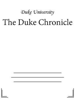 The Duke Chronicle