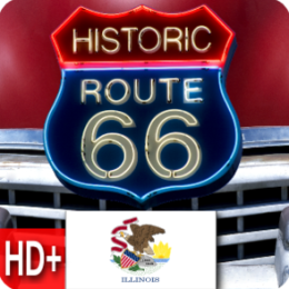 Route 66 - Illinois - Live HD+ Wallpaper