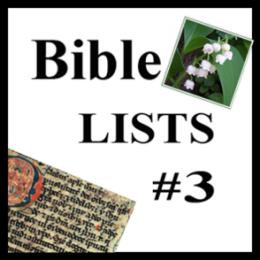 Bible Lists #3
