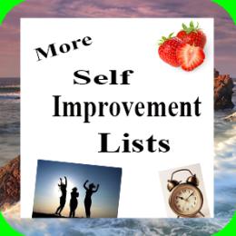 More Self Improvement Lists