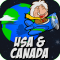 Amazing Geography Game - USA & Canada. Making learning world geography fun!