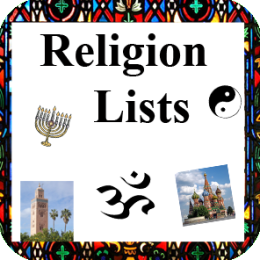Religion Lists