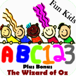 (Kids 2-in-1 pack) Kids ABCs App and Wizard of Oz (Complete Audio Book)