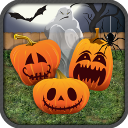 Haunted Halloween Pumpkin Patch Match 3 Puzzle Game