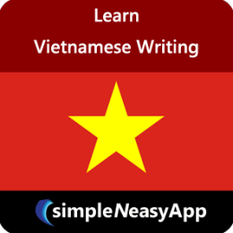 Learn Vietnamese Writing -simpleNeasyApp by WAGmob