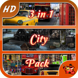 City Pack - 3 in 1 - Hidden Object Game