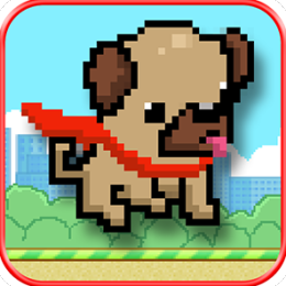 Magical Pug Flight - Flappy Ears Adventure