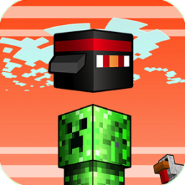 Flappy Blockhead Mobs - Craft Flyer