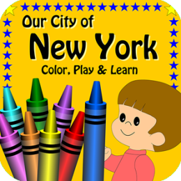 Our City of New York, Color, Play and Learn Activity Book