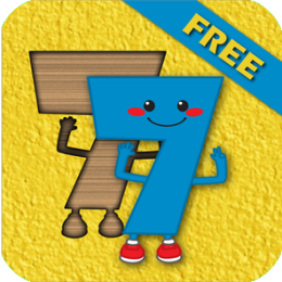 Kids Number Shapes Match Puzzle