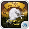Product Image. Title: Hidden Objects Horses and Unicorns & 3 puzzle games