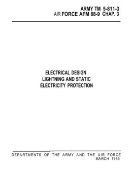 ELECTRICAL DESIGN LIGHTNING AND STATIC ELECTRICITY PROTECTION
