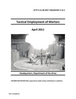 Tactical Employment of Mortars