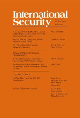 International Security 38:1 (Summer 2013)