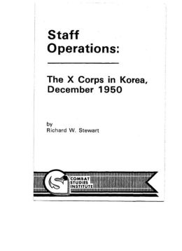The X Corps in Korea, December 1950