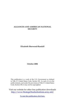 ALLIANCES AND AMERICAN NATIONAL SECURITY