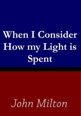 How might one paraphrase John Milton's sonnet