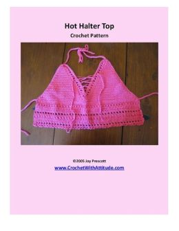 Hot Pink Halter Top Crochet Pattern