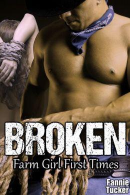 Broken (Reluctant Virgin Bareback Breeding Cowboy Erotica)