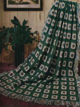 Vintage Crochet Afghan Patterns with Basic Instructions