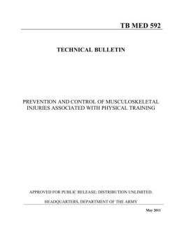 PREVENTION AND CONTROL OF MUSCULOSKELETAL INJURIES ASSOCIATED WITH PHYSICAL TRAINING