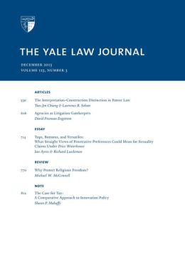 Yale Law Journal: Volume 123, Number 3 - December 2013