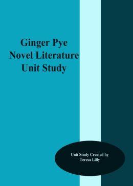 Ginger Pye Novel Literature Unit Study